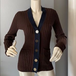 Tory Burch Large Button Cardigan